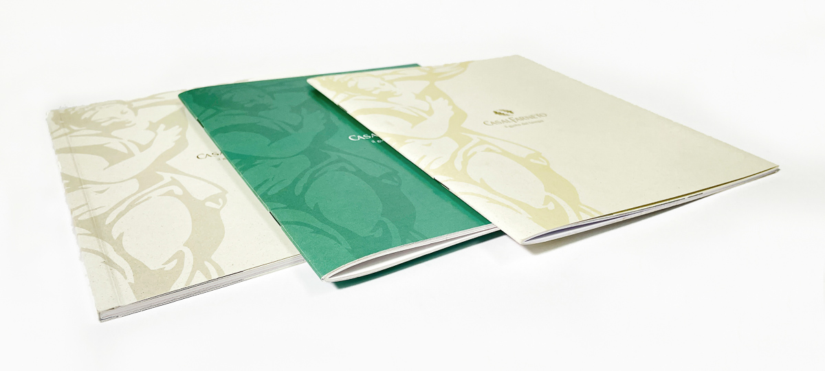 cataloghi rilegati in brossurae punto metallico